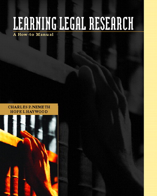 Learning Legal Research: A How-to Manual,  CourseSmart eTextBook