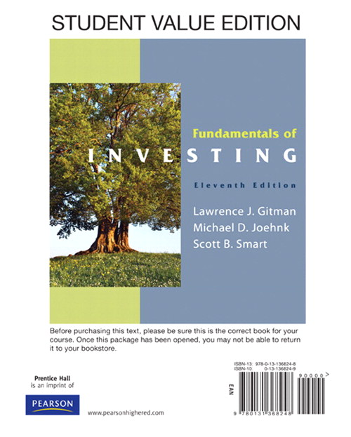 Fundamentals of Investing, Student Value Edition, 11th Edition