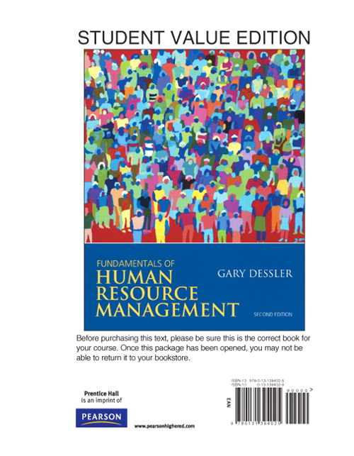 Fundamentals of Human Resource Management, Student Value Edition, 2nd Edition