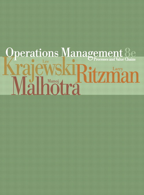 Operations Management: Process and Value Chains, 8th Edition