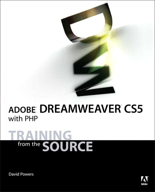 Adobe Dreamweaver CS5 with PHP: Training from the Source, Safari