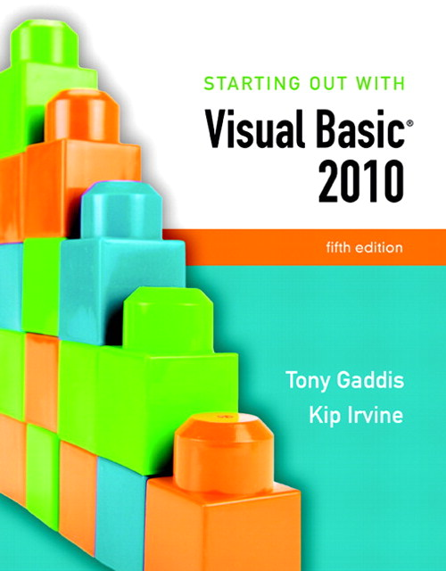 Starting Out With Visual Basic 2010, CourseSmart eTextbook, 5th Edition