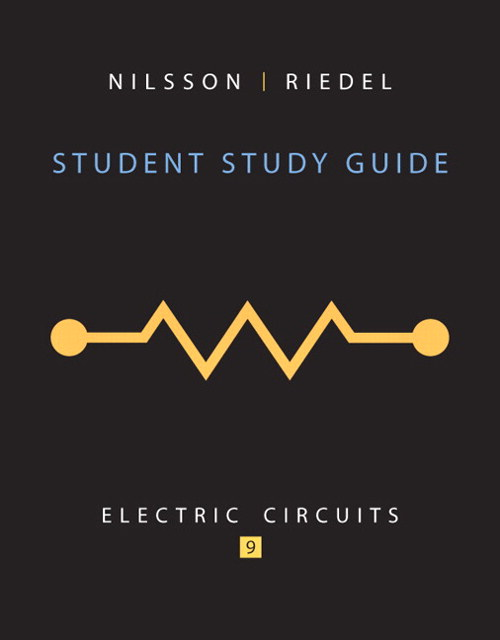 Cover image for Student Study Guide for Electric Circuits, 9th Edition