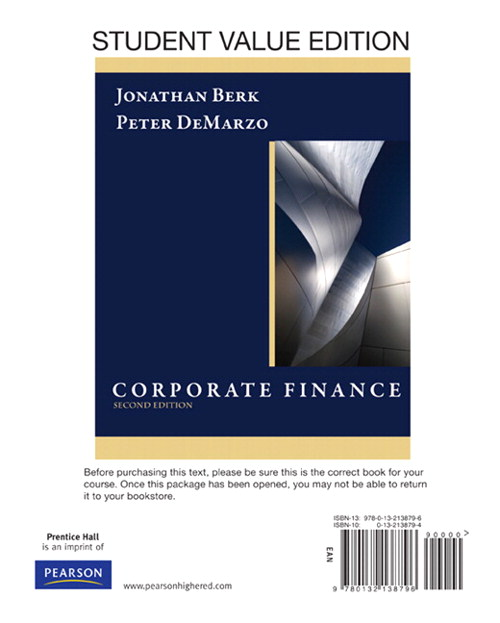 Corporate Finance, Student Value Edition, 2nd Edition