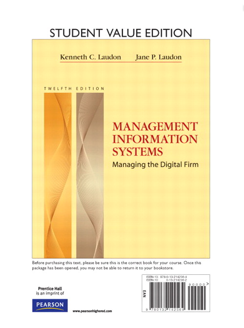 Management Information Systems, Student Value Edition, 12th Edition