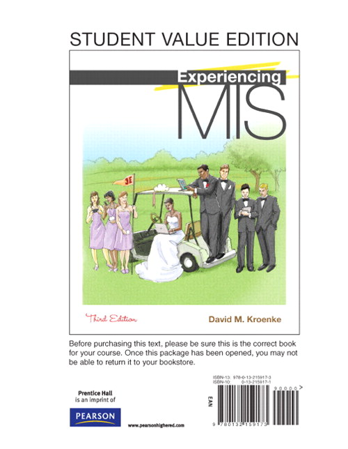 Experiencing MIS, Student Value Edition, 3rd Edition