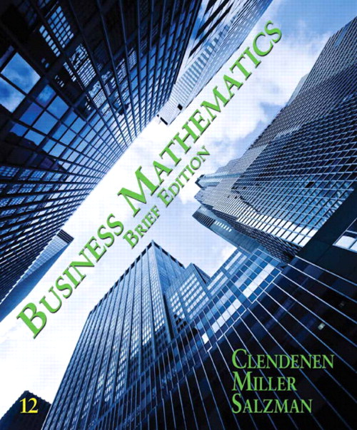Business Mathematics Brief, CourseSmart eTextbook, 12th Edition