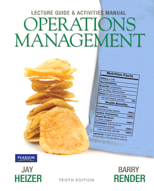 Cover image for Lecture Guide and Activities Manual for Operations Management Flexible Edition, 10th Edition