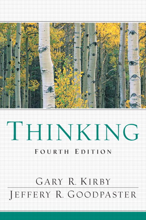 Thinking, CourseSmart eTextbook, 4th Edition