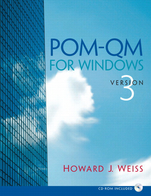 POM-QM v 3 for Windows Manual and CD POM, 3rd Edition