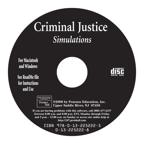 Cover image for Criminal Justice Simulations Brief, CD-ROM