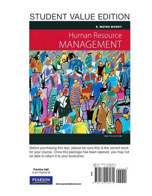 Human Resource Management, Student Value Edition, 12th Edition