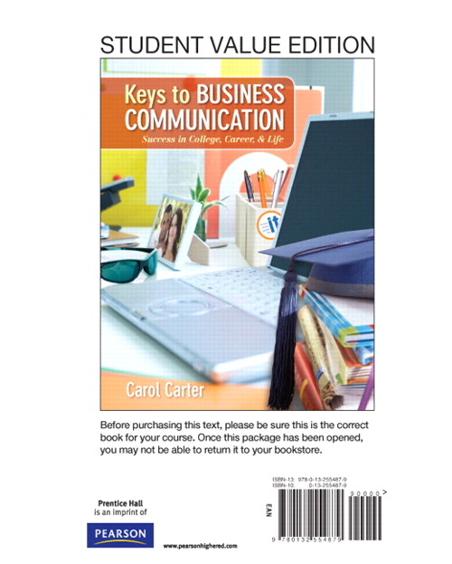 Keys to Business Communication, Student Value Edition