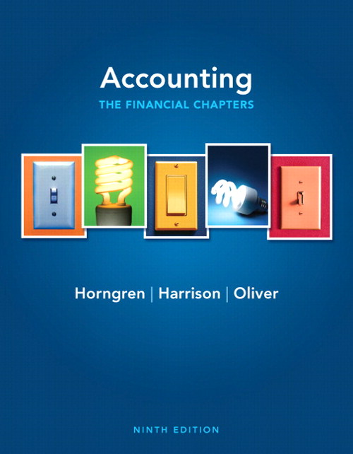 Accounting, Chapters 1-15 (Financial chapters), 9th Edition