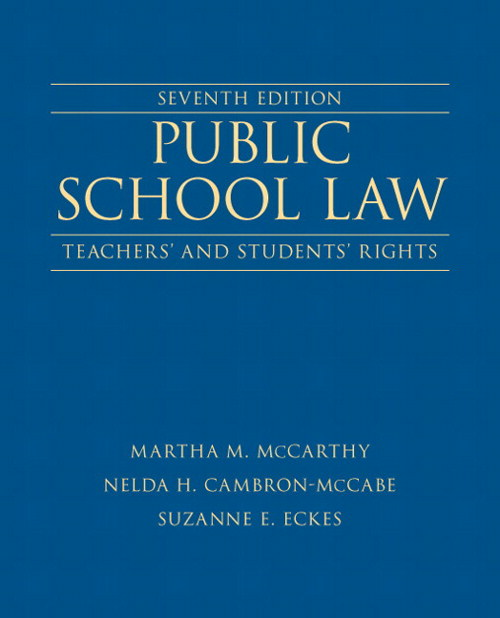 Public School Law: Teachers' and Students' Rights , CourseSmart eTextbook, 7th Edition