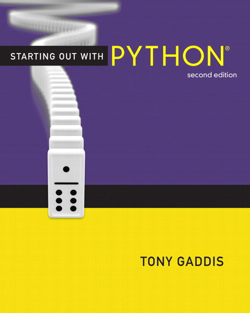 Starting Out with Python, CourseSmart eTextbook, 2nd Edition