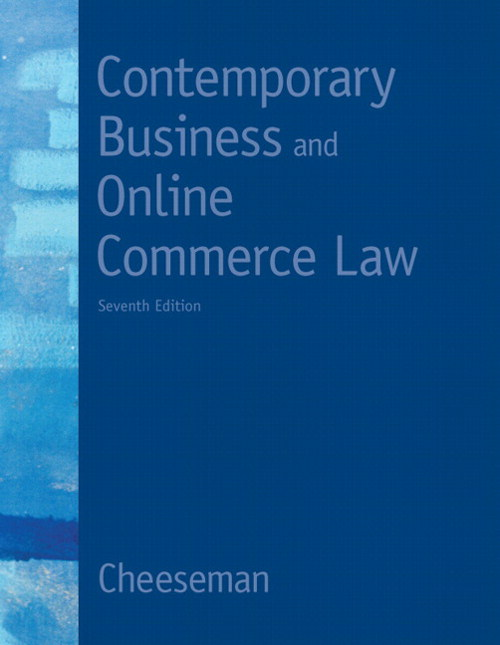 Contemporary Business and Online Commerce Law, CourseSmart eTextbook, 7th Edition