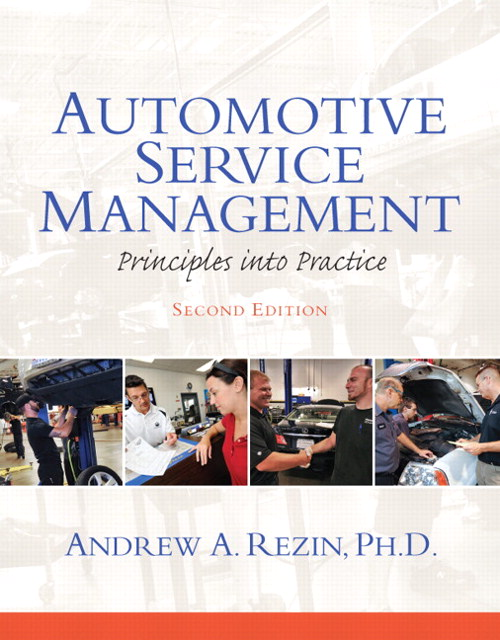 Automotive Service Management, CourseSmart eTextbook, 2nd Edition
