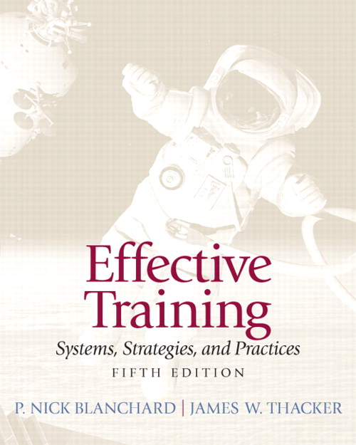 Effective Training, CourseSmart eTextbook, 5th Edition