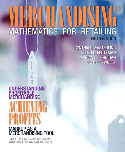 Merchandising Mathematics for Retailing, CourseSmart eTextbook, 5th Edition