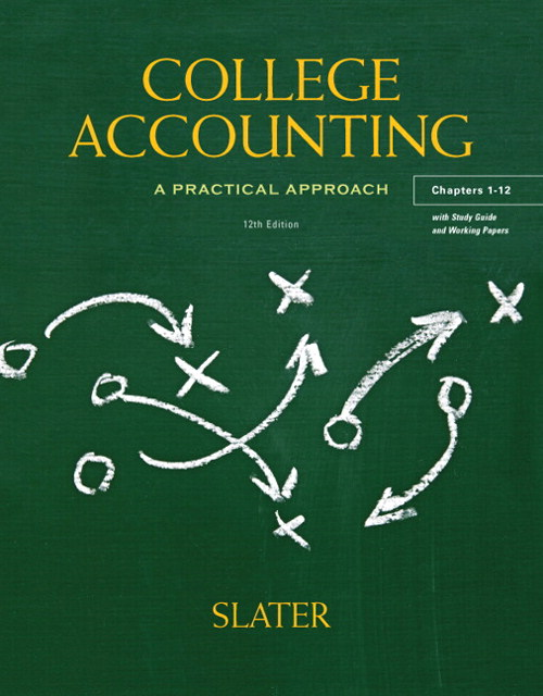College Accounting Chapters 1-12 with Study Guide and Working Papers, 12th Edition