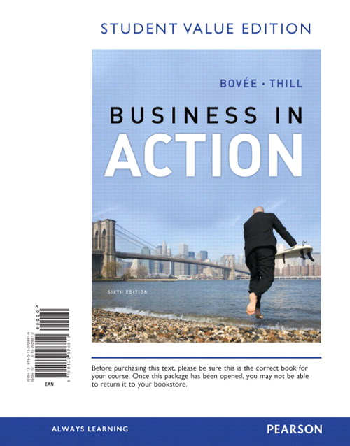 Business in Action, Student Value Edition, 6th Edition