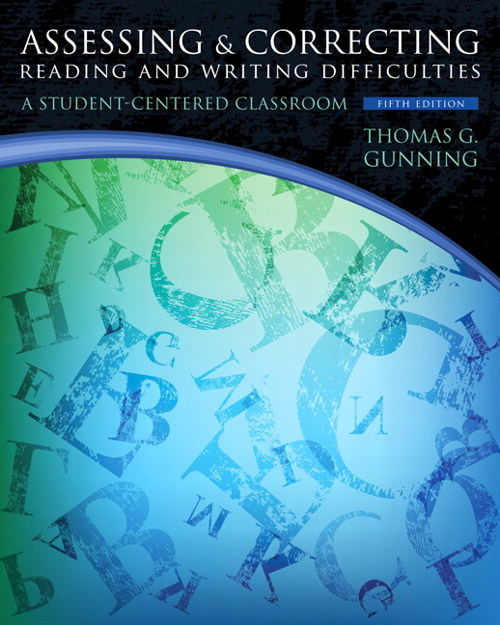 Assessing and Correcting Reading and Writing Difficulties, CourseSmart eTextbook, 5th Edition