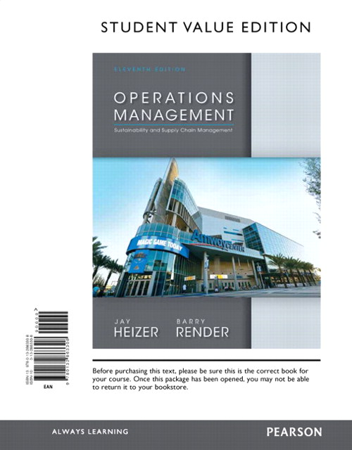 Operations Management, Student Value Edition, 11th Edition