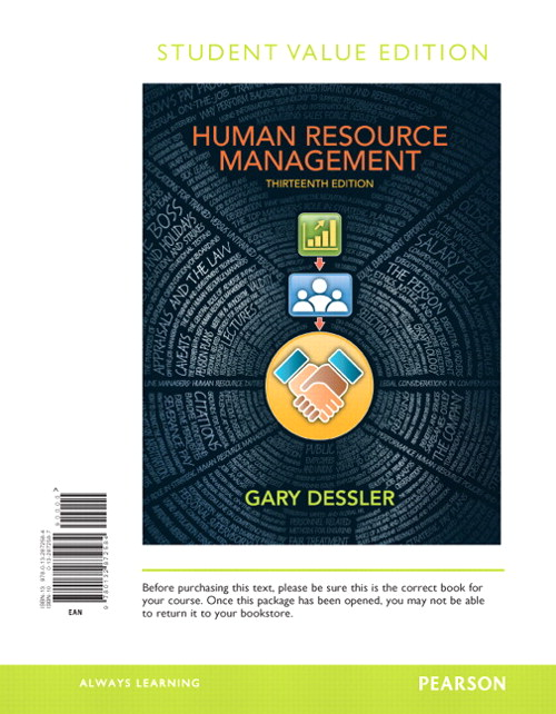 Human Resource Management, Student Value Edition, 13th Edition