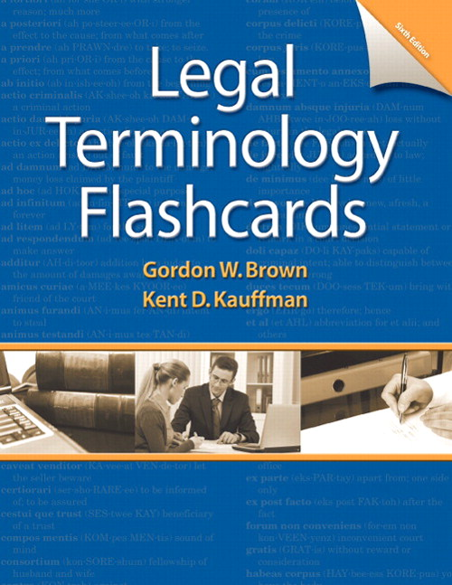 Cover image for Printed Flashcards for Legal Terminology, 6th Edition