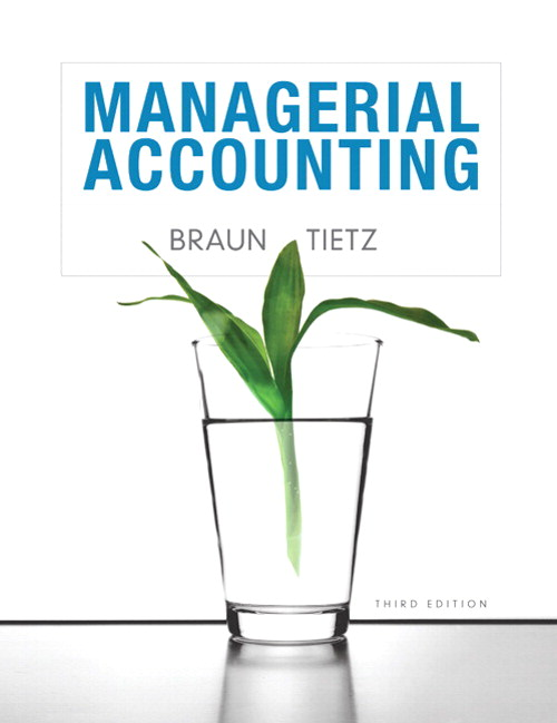 Managerial Accounting, CourseSmart eTextbook, 3rd Edition