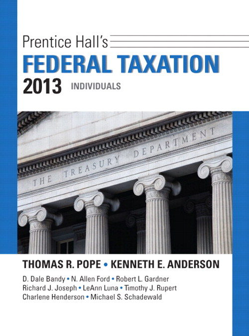 Prentice Hall's Federal Taxation 2013 Individuals, 26th Edition