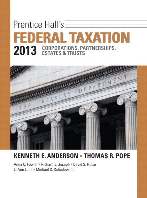 Prentice Hall's Federal Taxation 2013 Corporations, Partnerships, Estates & Trusts, 26th Edition