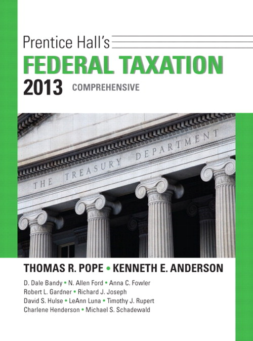 Prentice Hall's Federal Taxation 2013 Comprehensive, 26th Edition