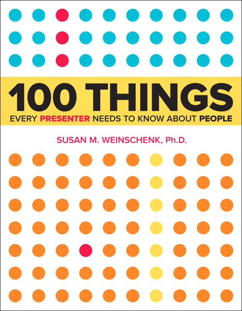100 Things Every Presenter Needs to Know About People, CourseSmart eTextbook