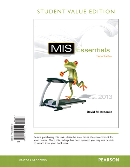 MIS Essentials, Student Value Edition, 3rd Edition