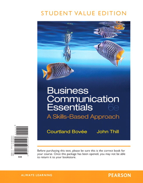 Business Communication Essentials, Student Value Edition, 6th Edition