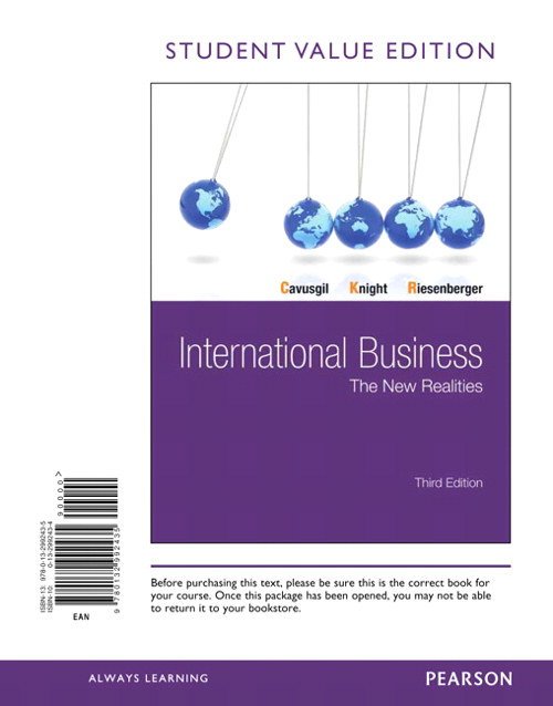 International Business: The New Realities, Student Value Edition, 3rd Edition