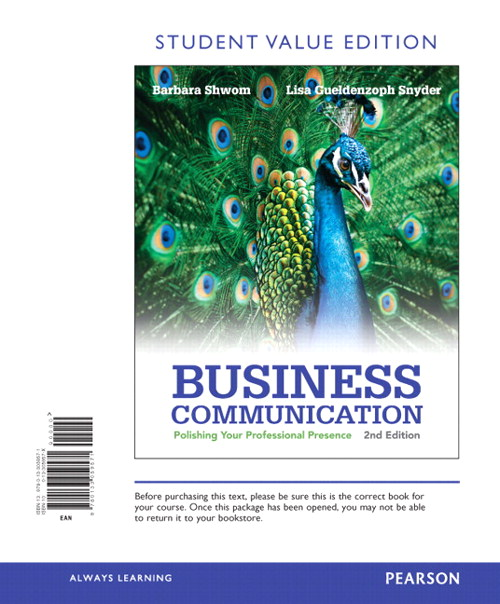 Business Communication: Polishing Your Professional Presence, Student Value Edition, 2nd Edition