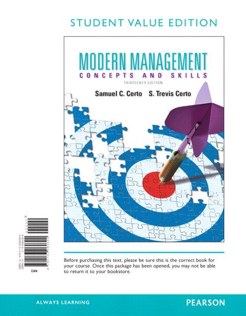 Modern Management, Student Value Edition, 13th Edition