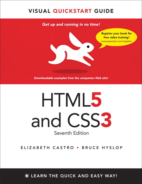 HTML5 and CSS3: Visual QuickStart Guide, CourseSmart eTextbook, 7th Edition