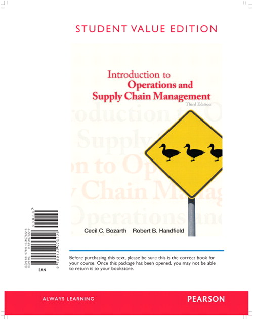 Introduction to Operations and Supply Chain Management, Student Value Edition, 3rd Edition