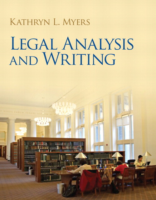 Legal Analysis and Writing, CourseSmart eTextbook