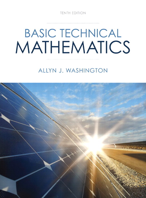 Basic Technical Mathematics, CourseSmart eTextbook, 10th Edition