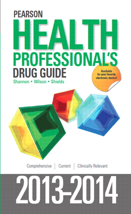 Pearson Health Professional's Drug Guide 2013-2014, CourseSmart eTextbook