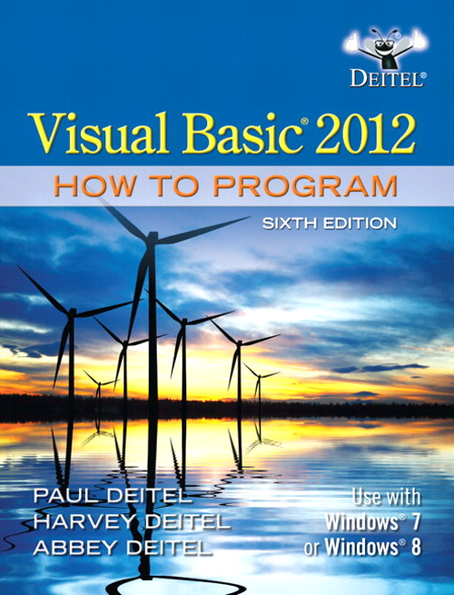 Visual Basic 2012 How to Program, CourseSmart eTextbook, 6th Edition