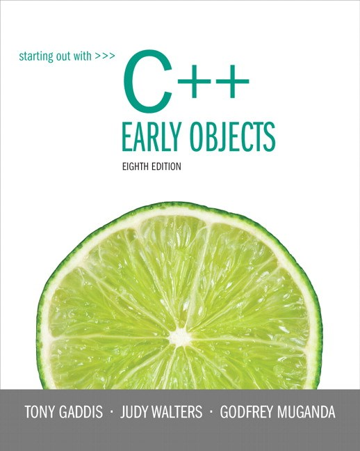 Starting Out with C++ Early Objects plus MyProgrammingLab with Pearson eText -- Access Card Package, 8th Edition