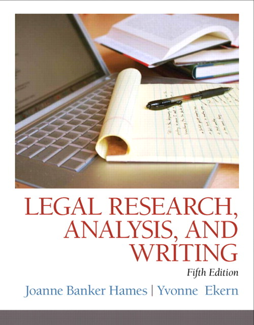 Legal Research, Analysis, and Writing, 5th Edition