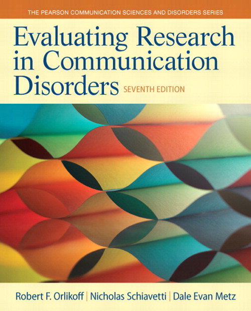 Evaluating Research in Communication Disorders, CourseSmart eTextbook, 7th Edition