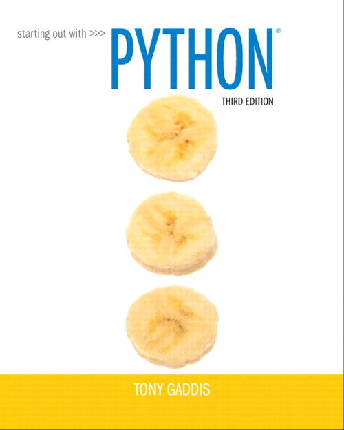 Starting Out with Python, CourseSmart eTextbook, 3rd Edition